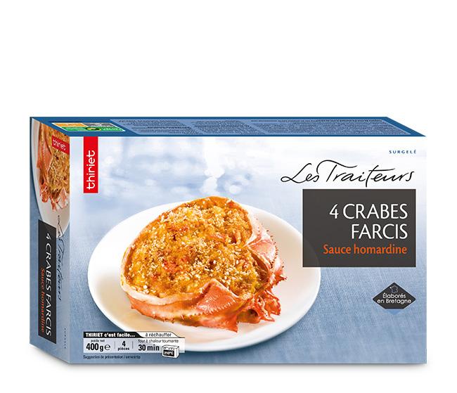 4 Crabes farcis, sauce homardine