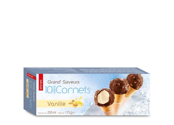 10 Mini Cornets Vanille