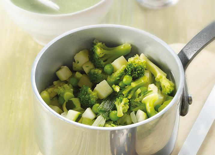 Légumes pour potage vert