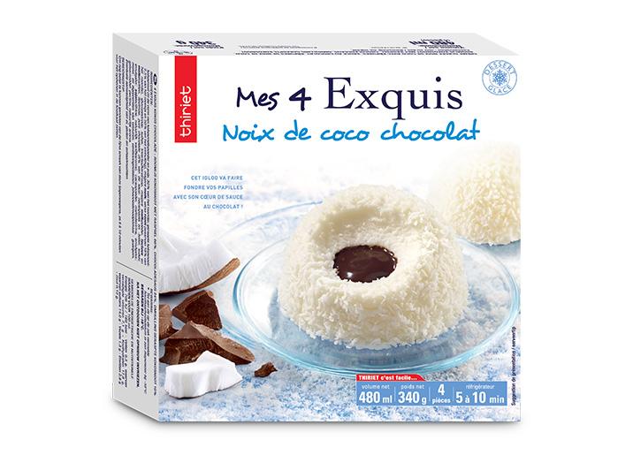 4 Exquis Noix de coco chocolat