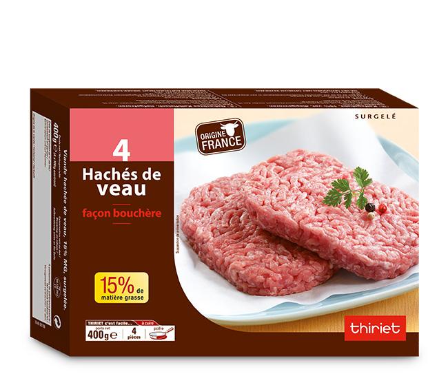 4 Hachés de veau façon bouchère 15% M.G.
