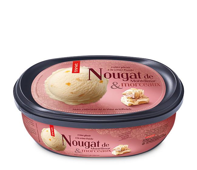 Crème glacée nougat de Montélimar