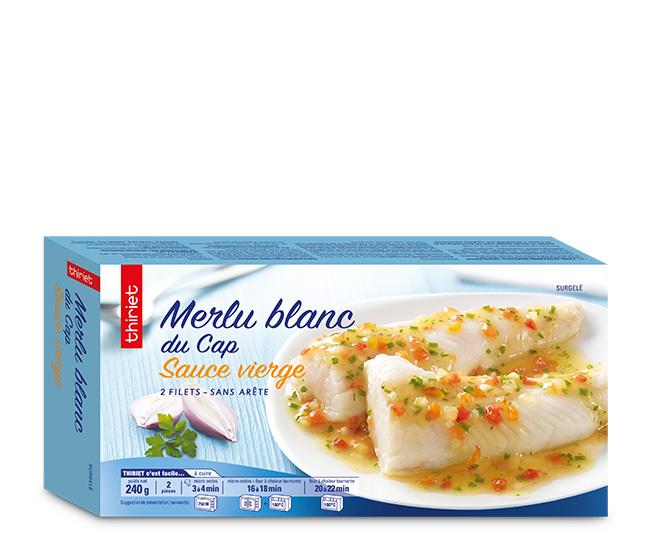 2 Filets de merlu blanc du Cap sauce vierge