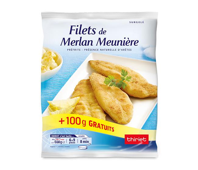 Filets de merlan meunière + 20% gratuit