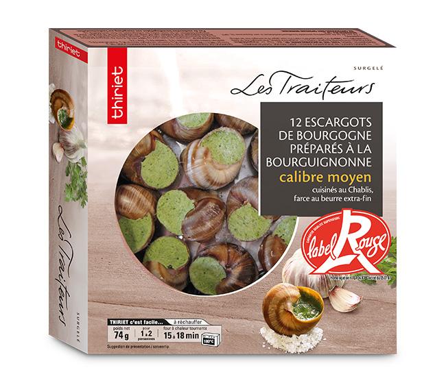 12 Escargots Bourgogne Label Rouge moyens