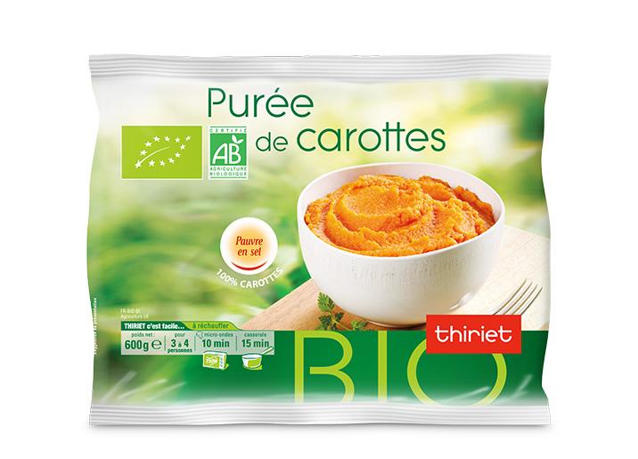 Purée de carottes biologiques