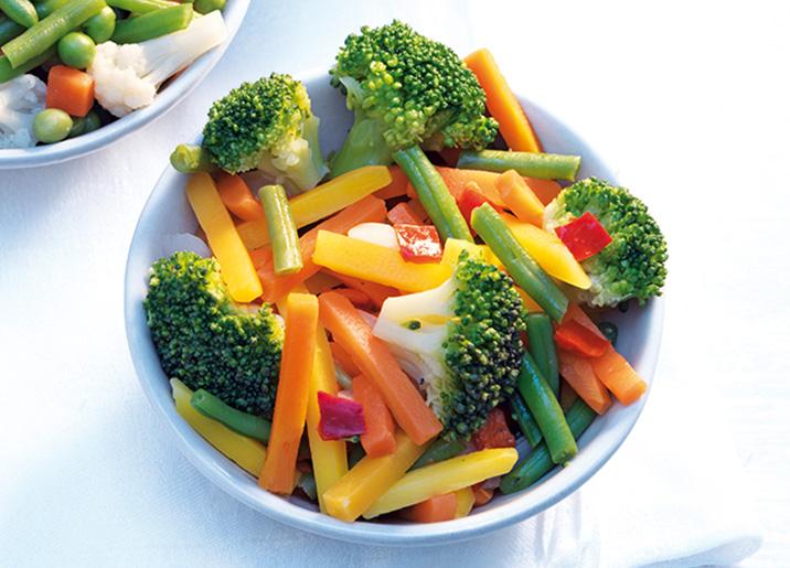 Sélection de légumes biologiques