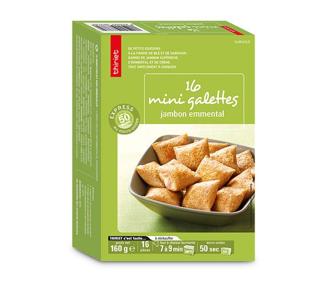 16 Mini galettes jambon/emmental