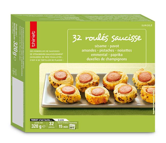32 Roulés saucisse