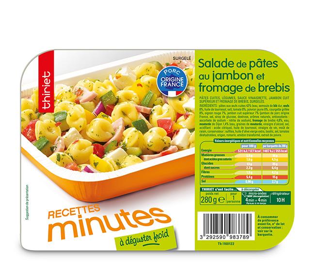 Salade de pâtes au jambon et fromage de brebis