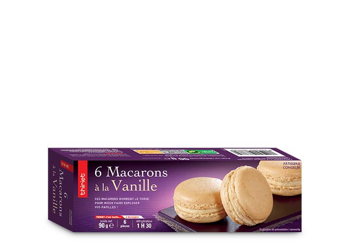 6 Macarons à la vanille