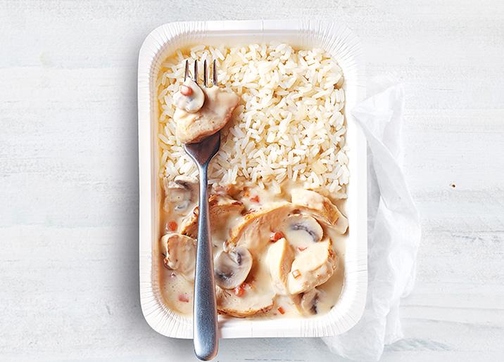 Blanquette de volaille et riz