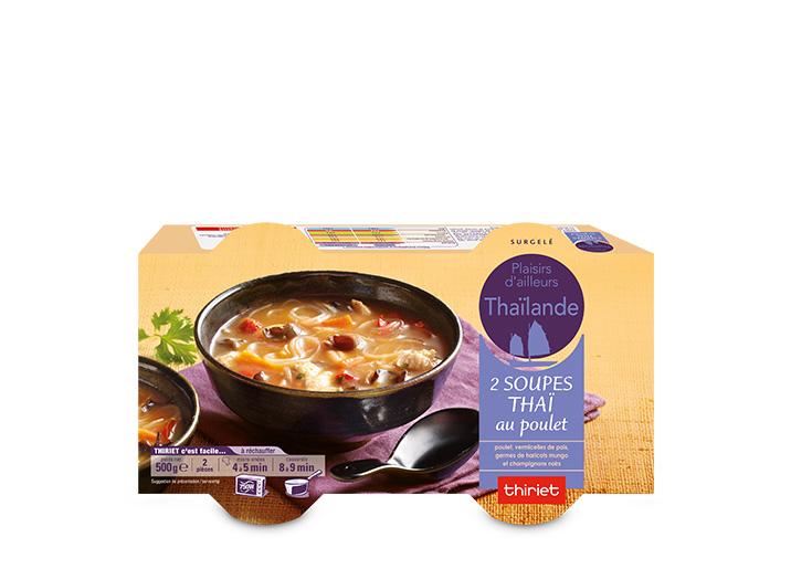 2 Soupes thaï au poulet