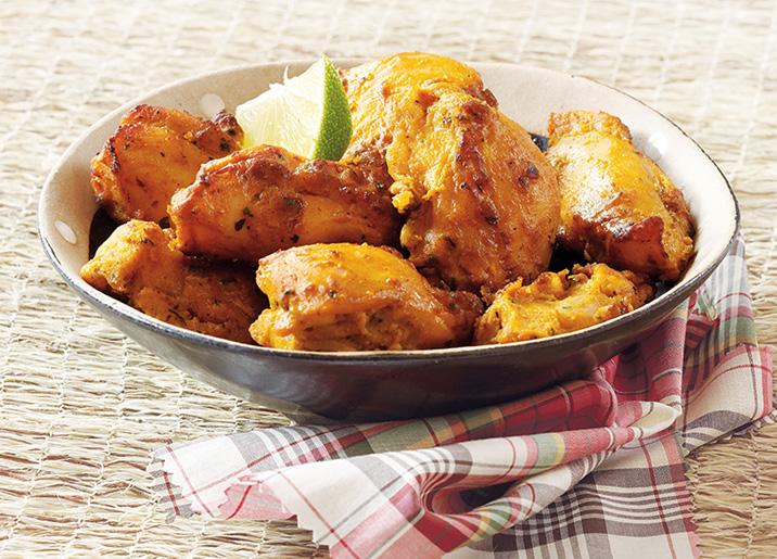 Bouchées de poulet marinées Créole cuites