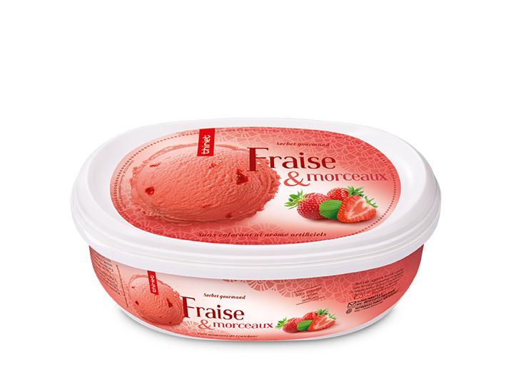 Sorbet Fraise et morceaux de fraise