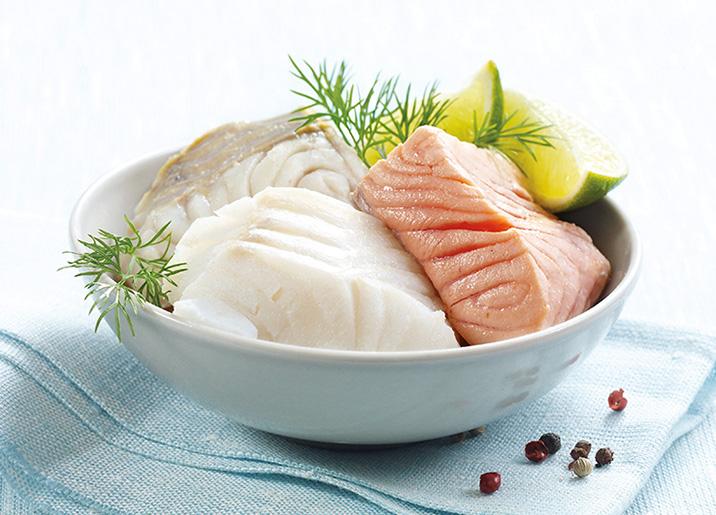 Coeurs de filets de poissons nordiques assortis