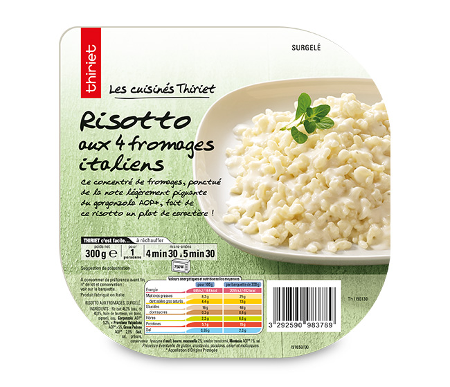 Risotto aux 4 fromages italiens