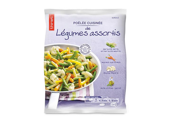Poêlée cuisinée légumes assortis
