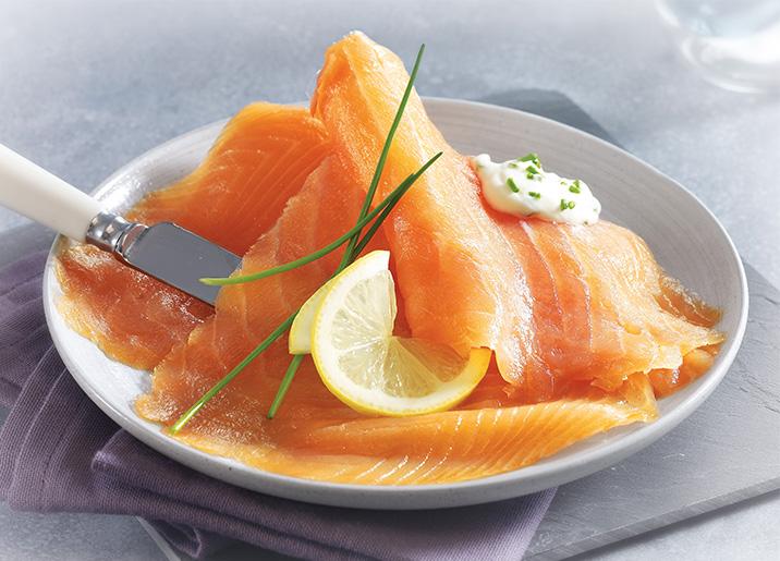 Saumon atlantique fum 160 g ecosse surgel gamme - Cuisiner saumon surgele ...