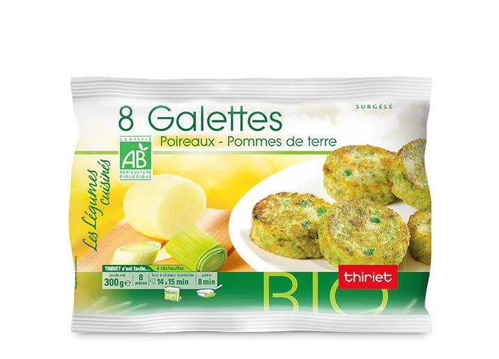 8 Galettes poireaux/pommes de terre biologiques