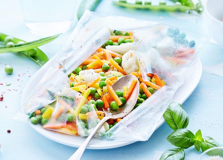 3 Sachets vapeur pois, carottes, choux-fleurs bio