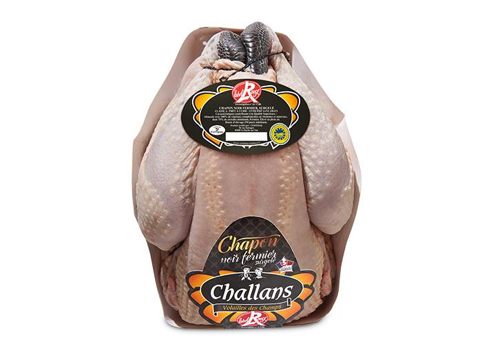 Chapon noir fermier de Challans Label Rouge