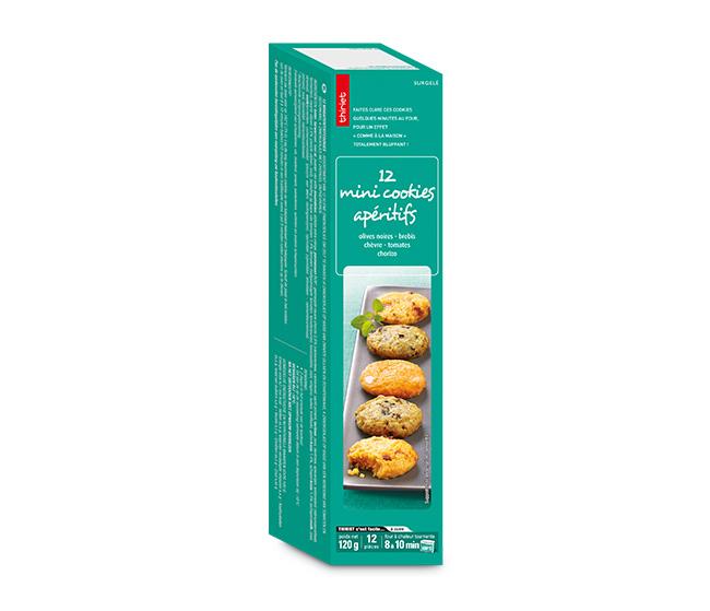 12 Mini cookies apéritifs