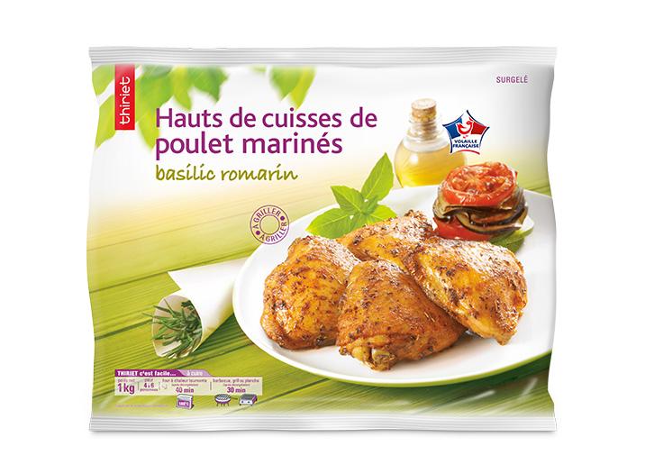 Hauts de cuisse de poulet marinés basilic romarin