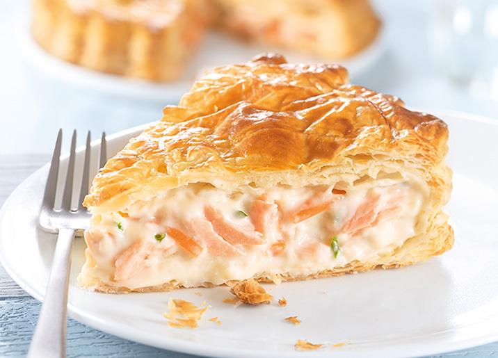 Tourte saumon/petits légumes