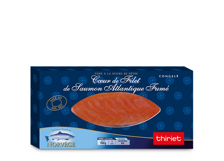 Coeur de filet de saumon Atlantique fumé