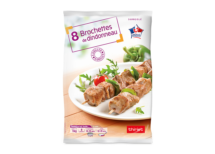 8 Brochettes de dindonneau