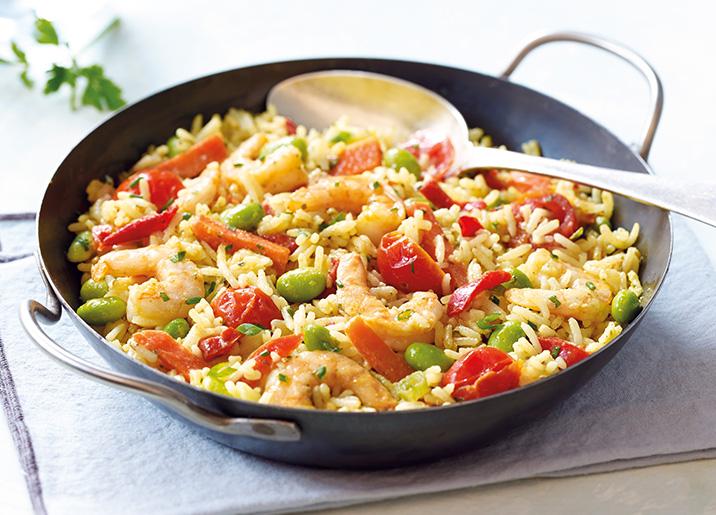 riz basmati aux crevettes fa on tha surgel gamme plats cuisin s sur thiriet. Black Bedroom Furniture Sets. Home Design Ideas