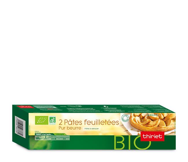 2 pâtes à tarte feuilletées pur beurre biologiques