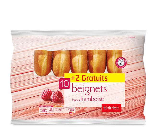 10 Beignets fourrés framboise + 2 gratuits