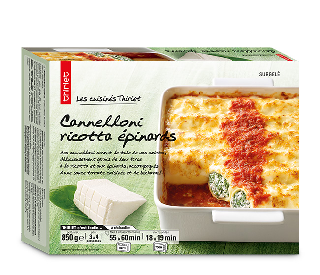 Cannelloni ricotta/épinards