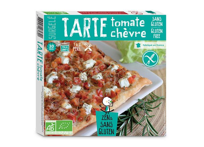 Tarte fine tomate et chèvre biologique sans gluten