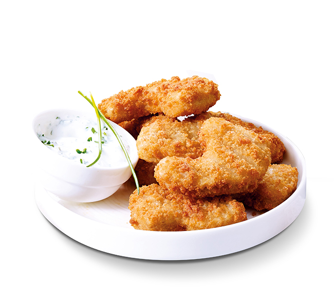 Nuggets de blé et pois