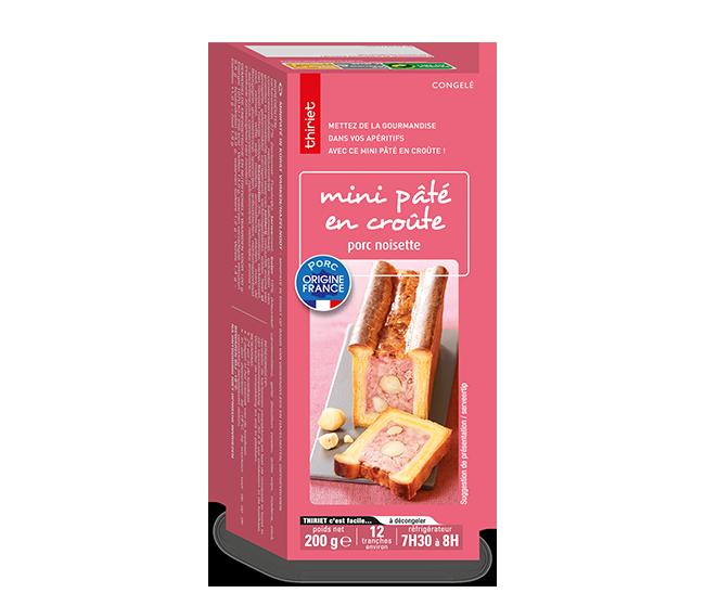 Mini pâté en croûte porc/noisette