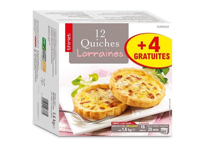 16 Quiches lorraines - Maxi format - par 16