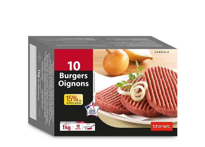 10 Burgers oignons 15% M.G.