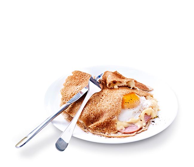 2 Galettes complètes œuf/jambon/emmental