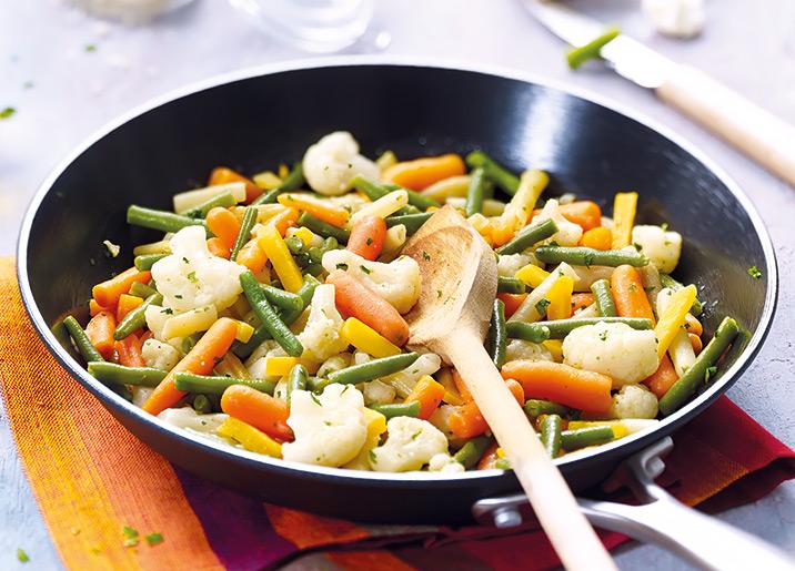 Poêlée cuisinée de légumes assortis