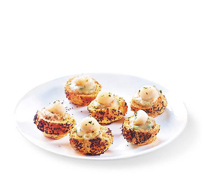 8 Petits choux aux noix de St-Jacques