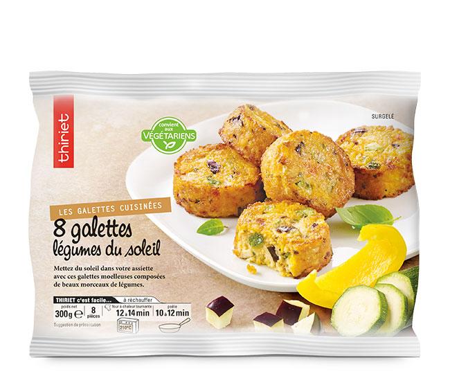 8 Galettes légumes du soleil