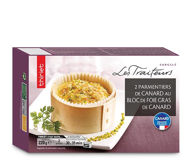 2 Parmentiers de canard au bloc de foie gras
