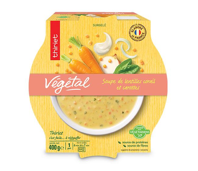Soupe de lentilles corail et carottes
