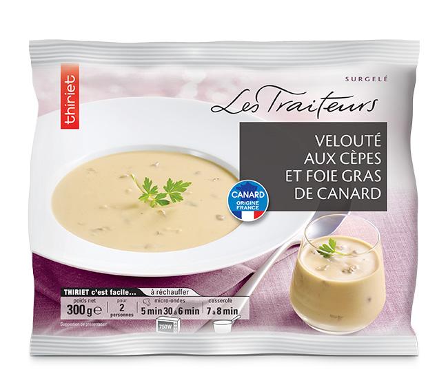 Velouté aux cèpes et foie gras de canard