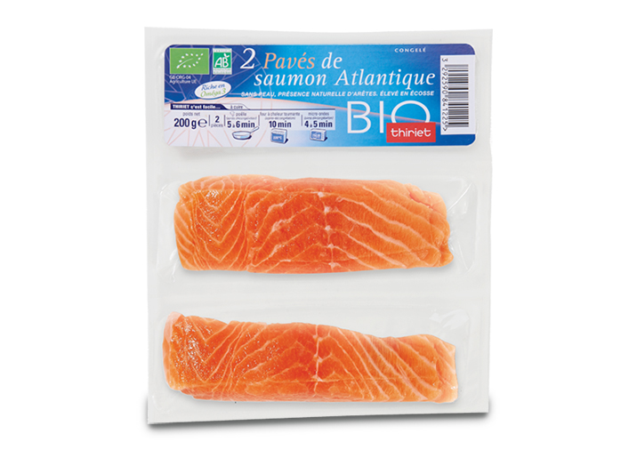 2 Pavés de saumon biologique