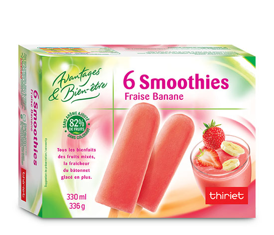 6 Smoothies fraise/banane
