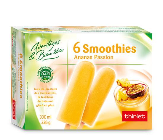 6 Smoothies ananas/passion